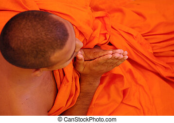 Buddhist Monks - Buddhist monks folding hand
