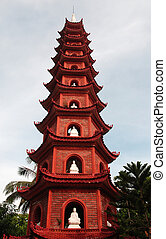 Buddhist pagoda temple tower - Buddhist, pagoda temple tower...