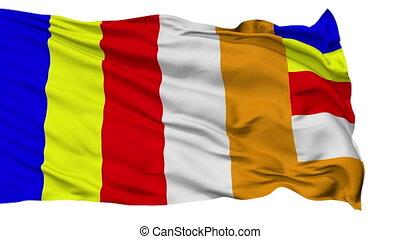 Buddhist Religious Isolated Waving Flag - Buddhist Religious...