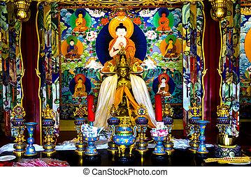 Buddhist Shrine Buddha Houhai Beijing China - Small Buddhist...