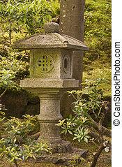 Buddhist shrine in a Japanese Garden