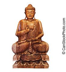 buddhist statue of Buddha isolated on white