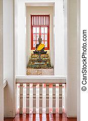 Buddhist Statue in Bangkok Temple.