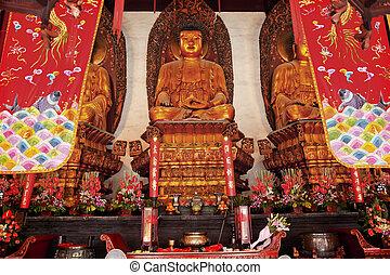 Buddhist Statues Jade Buddha Temple Jufo Si Shanghai China