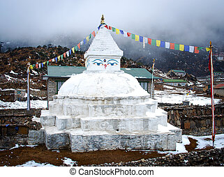 Buddhist stupa in Khunde,  Nepal
