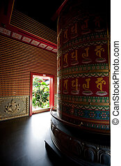 Buddhist Temple Abstract