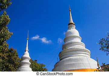 Buddhist temple at Wat Phra Sing in Chiang Mai