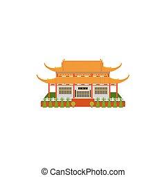 Buddhist temple flat icon