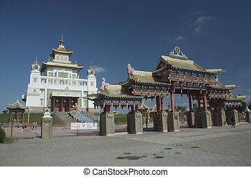 Buddhist Temple in Elista, Republic Kalmykia, Russian...