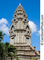 Buddhist temple in Phnom Penh, Cambodia .