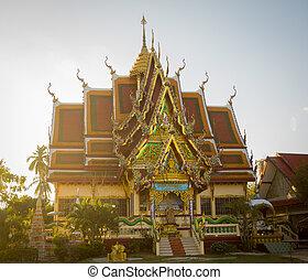 Buddhist temple in Samui island, Thailand