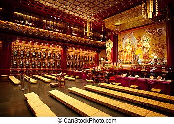 Buddhist Temple Interior - An interior of a Buddhist temple...