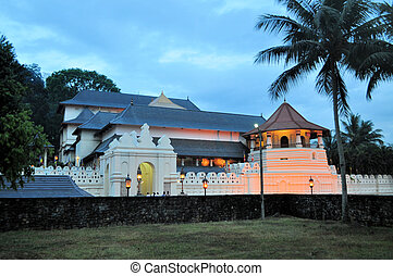 Buddhist Temple of the Tooth, Kandy, Sri Lanka - Famous...