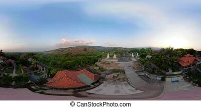 Buddhist temple on the island of Bali vr360 - vr360 buddhist...