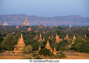 Buddhist Temples at Bagan Kingdom, Myanmar (Burma)