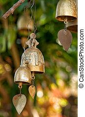 Buddhist wishing bells, Thailand - Tradition buddhist...