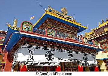 buddhistic temple near Bothanath stupa, Nepal.