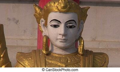 buddhists statue near temple, India