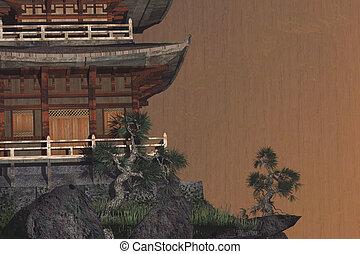 buddihst, tempel