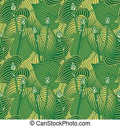 Budding Hosta Pattern - Seamless pattern of budding Hosta ...