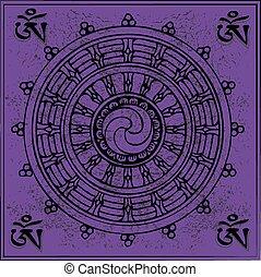 buddismo, tibetano, eterno, simbolo