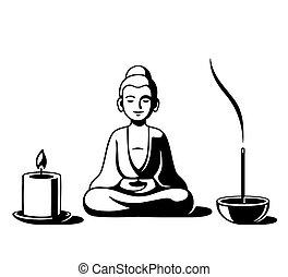 buddismo zen, altare