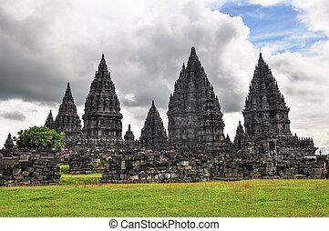 Buddist temple Borobudur Prombanan complex in Yogjakarta in...