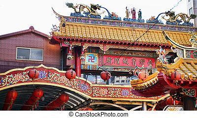 Buddist temple in Taipei,Taiwan.