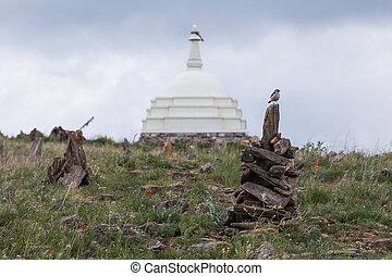 Buddist temple, Lake Baikal, Russia