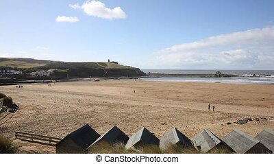 Bude beach North Cornwall England UK north of Boscastle...