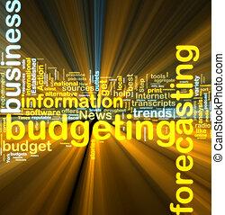 budgétiser, wordcloud, incandescent