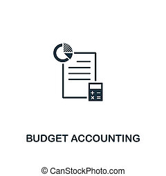 Budget Accounting icon. Premium style design from business management icon collection. Pixel perfect Budget Accounting icon for web design, apps, software, print usage