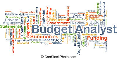 Budget analyst background concept - Background concept...