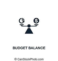Budget Balance icon. Premium style design from business management icon collection. Pixel perfect Budget Balance icon for web design, apps, software, print usage