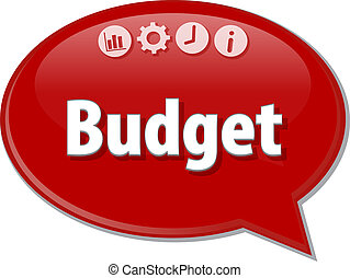 Budget   blank business diagram illustration