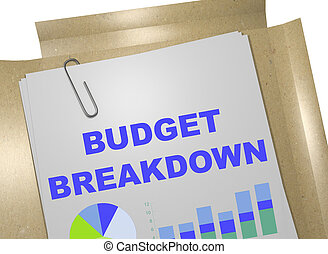 Budget Breakdown - business concept
