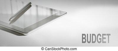 BUDGET Business Concept Digital Technology. Graphic Concept.