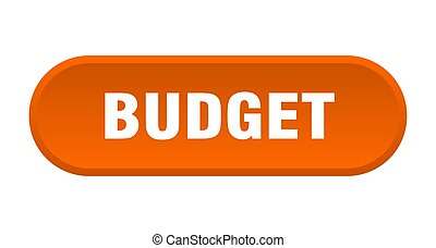budget button. budget rounded orange sign. budget