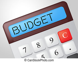 Budget Calculator Showing Price Finances And Paying