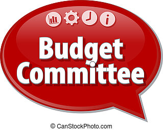 Budget Committee blank business diagram illustration