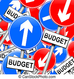 Budget concept. - Abstract illustration depicting many...