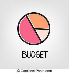 budget concept icon - vector illustration