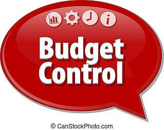 Budget Control  blank business diagram illustration