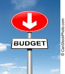 Budget decrease.
