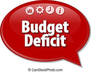 budget, deficit, tom, affär, diagram, illustration
