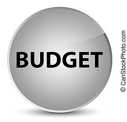 Budget elegant white round button