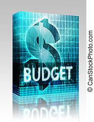 Budget Finance illustration box package