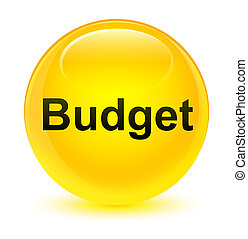 Budget glassy yellow round button