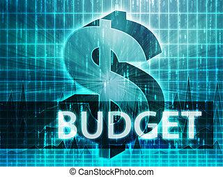 budget, illustrazione, finanza