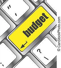 budget key showing business insurance concept, business concept
